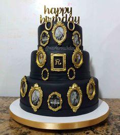 Kate Spade Cake Gold and Black cake Beyoncé cake Cake by Maria Rosa Bolos  Rio de Janeiro Brasil