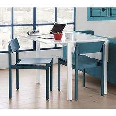 """slide aqua wood chair 