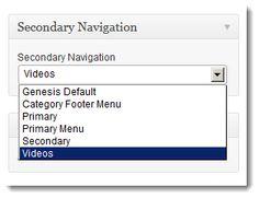 Display Different Nav Menu's On Pages & Posts In Genesis—Enable secondary menu; WooDojo Plugin;