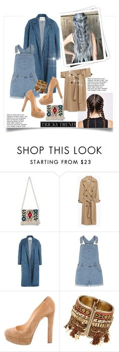 """""""Sans titre #558"""" by zoey-heart ❤ liked on Polyvore featuring NOVICA, Zara, GALA, Sandy Liang, Dorothy Perkins, Christian Louboutin, TrickyTrend and overalls"""
