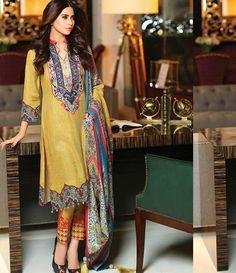 Mahnoor Winter embroidered Linen Collection '15 AZ_03B