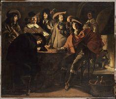 Louis Le Nain, La Tabagie. Signé en bas à droite: « Lenain. fecit. 1643 », 1643. Huile sur toile. H. 1,17 ; L. 1,37. R.F. 1969-24 © RMN-Grand Palais (musée du Louvre) / Mathieu Rabeau