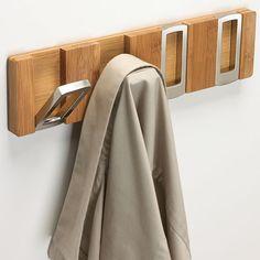Rectangle Flip Hook Coat Rack - Bamboo Image  http://www.organizeit.com/rectangle-flip-hook-coat-rack-bamboo.asp