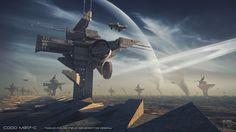 Codd by steve-burg on DeviantArt Wallpaper Science, Hd Wallpaper, Science Fiction, Orchestra Concerts, Cloud City, Future City, Sci Fi Art, Habitats, Concept Art