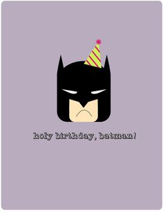 "wish your favorite super hero a very happy birthday with this batman card!  4.25"" x 5.5"" on cardstock envelope included!"