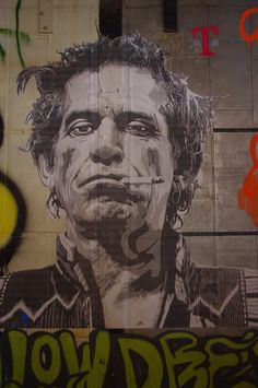 Keith Richards by MBW--a great poster of a great (though thoroughly burned out) guitar player.