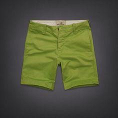 NWT MENS HOLLISTER LIME GREEN PREP FIT FLAT FRONT SUMMER SHORTS 28 #Hollister #PrepFitShorts