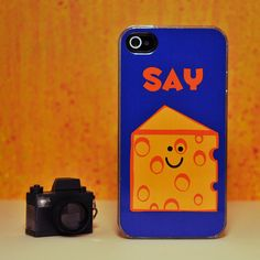 Cute iPhone Case - Say Cheese - iPhone 4 Hard Case. $20.00, via Etsy.
