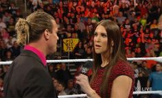 Stephanie McMahon slaps Dolph Ziggller animated gif - WWE Raw March 14 2016 True Love Stories, Love Story, Wwe Stephanie Mcmahon, Wwe Divas, Lady And Gentlemen, Animated Gif, Gorgeous Women, Superstar, Gifs