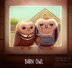 Daily Paint 1511. Barn Owl by Cryptid-Creations.deviantart.com on @DeviantArt