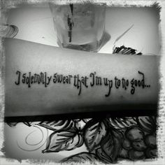 Harry Potter tattoo-perfect font..