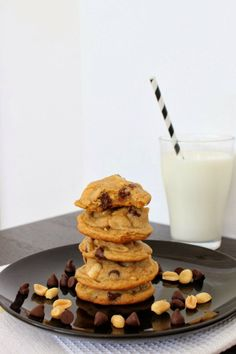 Wicked sweet kitchen: Salted peanut chocolate chip cookies