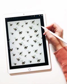 Buzzing bee illustration. Isabel Zarth pattern design  ✍️. #onmydesk #inthestudio #illustrationoftheday #illustrator #draw #calledtobecreative #digitalart #printmaking #patterndesign #bee #savethebees #ipadpro #procreate #pursuepretty