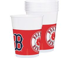 Boston Red Sox Party Cups 25ct - MLB Teams - Sports Theme Party - Theme Parties - Categories - Party City