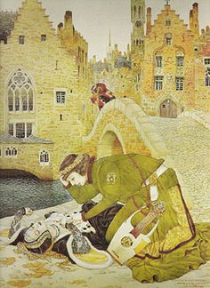 The art of Gustav Adolf Mossa, 1883–1971 Bruges-la-morte (1911).