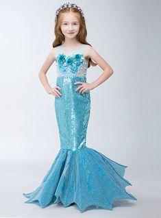 In Stock:Ship in 48 hours Mermaid Blue Sequins Flower Girl Dress Mermaid Dress For Kids, Girls Mermaid Costume, Mermaid Dresses, Prom Girl Dresses, Wedding Party Dresses, Summer Dresses, Formal Dresses, Sequin Flower Girl Dress, Flower Girl Dresses