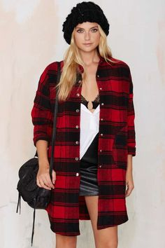 Check On It Flannel Jacket | Shop Clothes at Nasty Gal!