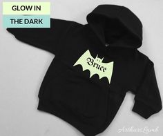 Halloween Trick Or Treat, Halloween Gifts, Halloween Costumes, Bat Shirt, Trick Or Treat Bags, Personalized Baby Gifts, Halloween Design, Bats, Black Hoodie