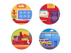 Travel Concept Icon Set by kit8 Travel concept icon set. Collect items for travel or vacation. Vector illustration. Vector files, fully editable. Includes AI CS5,