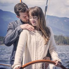 Christian Grey & Anastasia Grey on The Grace in Fifty Shades Darker ❤️ Jamie Dornan Dakota Johnson