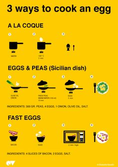 3 ways to cook an egg