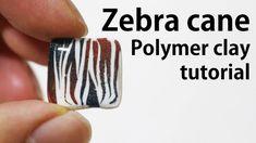 How to make Zebra Cane 얼룩무늬 케인 만들기 폴리머 클레이