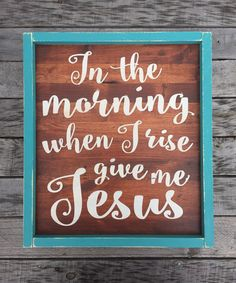 In the Morning When I Rise Give Me Jesus hand by BasementWorkshop1