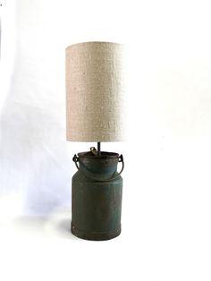 Milk Pail Lamp UMP Green