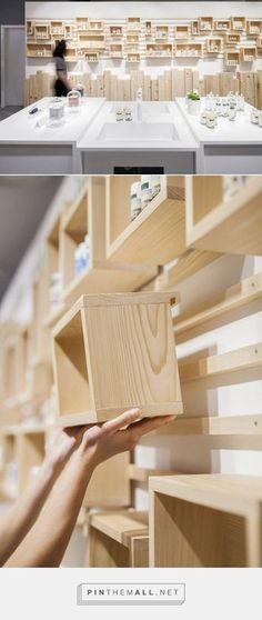 AlpStories Community Store by Brigada, Zagreb – Croatia Wood Shelves, Shelving, Wall Design, House Design, Design Art, Diy Furniture, Furniture Design, Ideias Diy, Storage Design