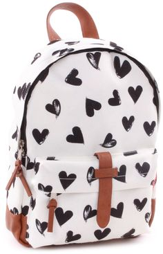 Kidzroom rugzakje Hearts Black and White KLEIN 31 cm Black And White Bags, Boys Backpacks, Kids Bags, My Princess, Vans Shoes, Toddler Boys, Fashion Backpack, Girl Fashion