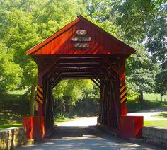 Ebenezer bridge Mingo Creek County Park Pennsylvania Covered Bridge Festival.