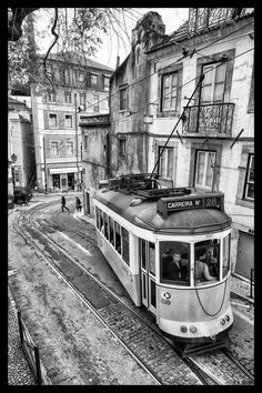 Tramway in Lisboa - Lisbon, Portugal April 2016