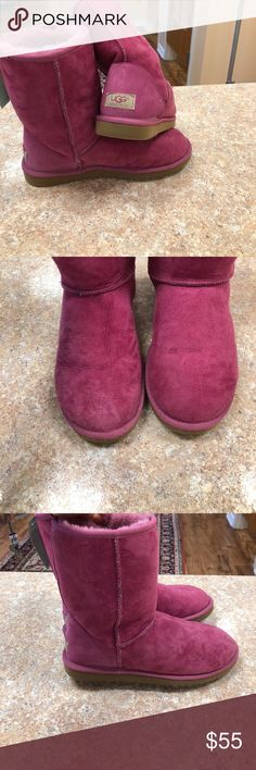 Pink UGG boots General where throughout still plenty of life left pink with pink Sherling interior UGG Shoes Winter & Rain Boots