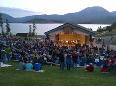 Lake Dillon, Colorado Band Shell Live Music in the summer. Dillon Colorado, Lake Dillon, Colorado Trip, Colorado Homes, Summit County, Bachelorette Ideas, Alpine Lake, Estes Park, Home And Away