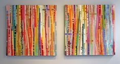 Jacqueline Bozon  Mixed Media with Resin  AAF Battersea 2012 - love the colours