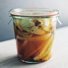 Overnight Fennel and Jicama Pickles with Orange // More Fennel Recipes: http://www.foodandwine.com/slideshows/fennel/1 #foodandwine