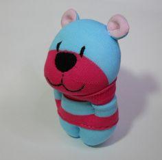 sock animal stuffed animal toy bear plush by TreacherCreatures, $19.00