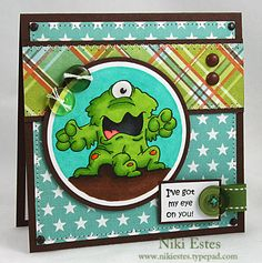 My Paper Creations: I've got my eye on you! Scrapbook Cards, Scrapbooking Ideas, Kids Birthday Cards, Punch Art, Cool Cards, Kids Cards, Creative Cards, Stampin Up Cards, Card Making