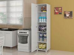 Armário Organizador Canela 1 Porta com Rodízio - Politorno --- de R$ 489,00 por R$ 360,90 em até 6x de R$ 60,15 sem juros no cartão de crédito  ou R$ 342,86 à vista (4% Desc. já calculado.) --- O armário organizador Canela, confeccionado em MDP 15 mm e chapa de fibra 3 mm (somente nas costas), vai deixar o seu ambiente ainda mais organizado. Ele possui 4 prateleiras internas para organizar objetos de lavanderia, cozinha ou outro, além de rodízios que facilita sua locomoção.