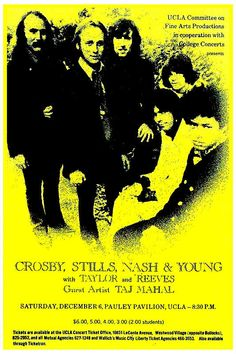 Crosby Stills Nash & Young (with Dallas Taylor and Gregg Reeves) plus Taj Mahal, 1969