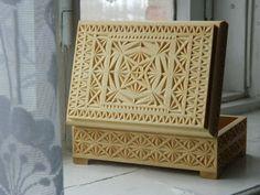 Резная деревянная шкатулка вырезано вручную подарок от FancyChip