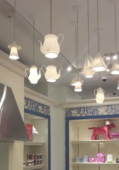 teapot lighting-  how adorable!!