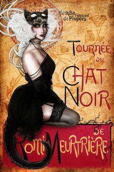 Le Chat Drawings Woman | le chat noir romi meutriere by medusa dollmaker digital art drawings ...