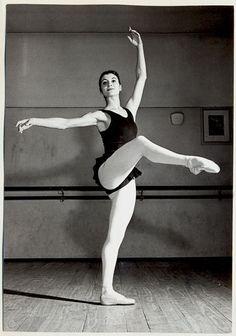 Carla Fracci at the school of La Scala in the1950s