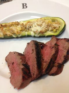 No Daddy Dinners: Balsamic Venison Backstrap and Zucchini Boats