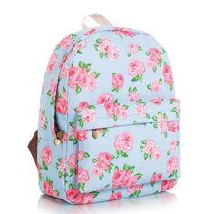 Nuevas llegadas Hot estampado floral, Mochila De Lona College Moda Casual Mochila Escolar #mallchick #fashion