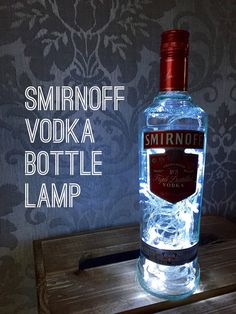 Smirnoff Vodka Lamp Light Upcycled Bottle by popitlikeitsart