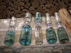 Bottles to go into a cordwood building.