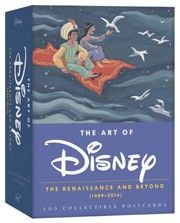 This box of postcards representing Disney's modern classics collects concept art—many pieces never before published—and final frames from ten iconic films made since Disney's renaissance spanning from The Little Mermaid to Big Hero 6.