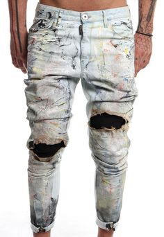 burned coloured jeans